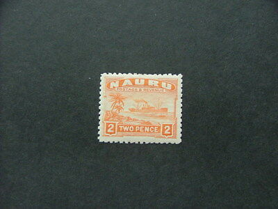 Nauru 1924 2d orange SG29a MM
