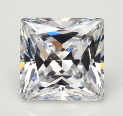 UNHEATED 7.90CT VVS TOP White SAPPHIRE 10X10MM Square SHAPE LOOSE GEMSTONE