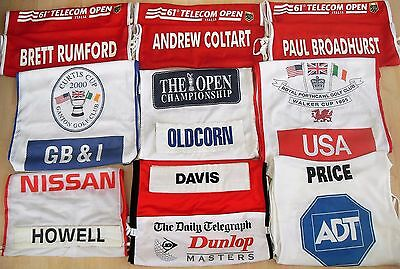 9 x Golf Caddie Bibs Open Championship PGA European Tour Tiger Woods Walker Cup