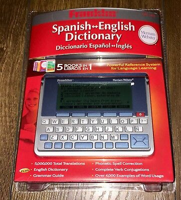 Franklin DBE-1490 English/Spanish Electronic Merriam Webster Dictionary. New.