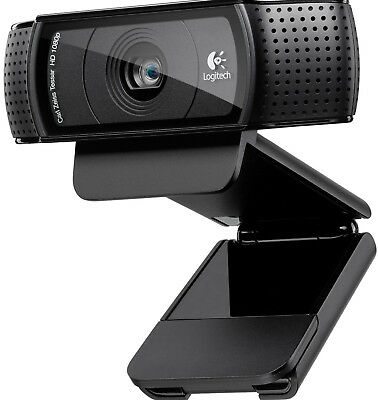 Logitech C920 Pro HD Webcam 1080p Microphone Video Call Skype USB PC RRP £99.99