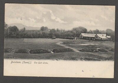 Somerset - Burnham The Golf Links ( Crowd gathered at the clubhouse 1905 )