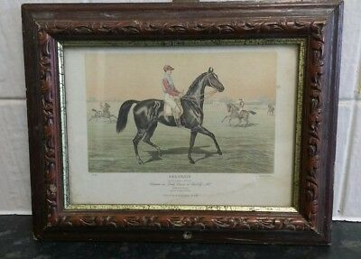 race horse print of 1868 Chantilly Derby featuring Chantilly