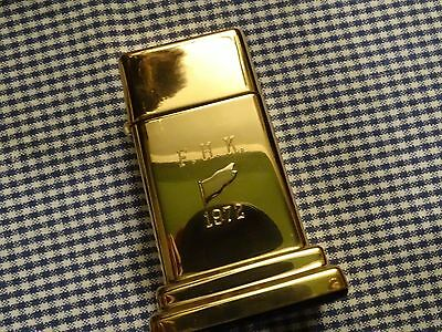 Vintage Zippo Barcroft Golden F.h.k. 1972 Table Lighter
