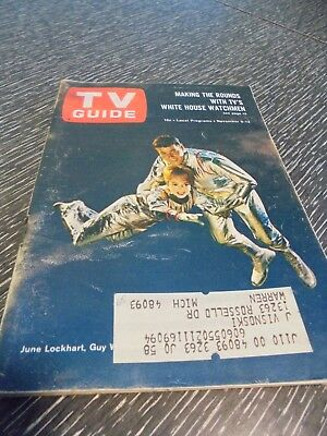 Vintage TV Guide, June Lockhart, Guy Williams,  Lost in Space, 1965, Retro