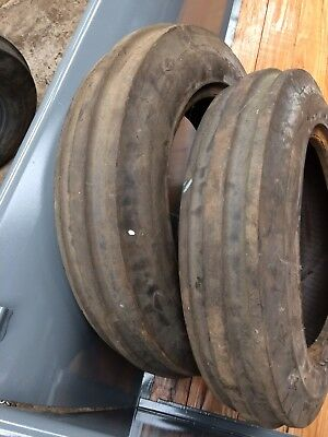 Ferguson Vineyard 5.00-15 pair of Front Goodyear Tyres, Nuffield, BMC.