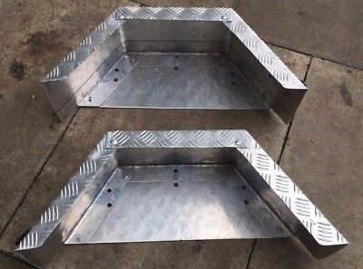 Car Trailer Mudguards Made From Aluminum Chequer Plate