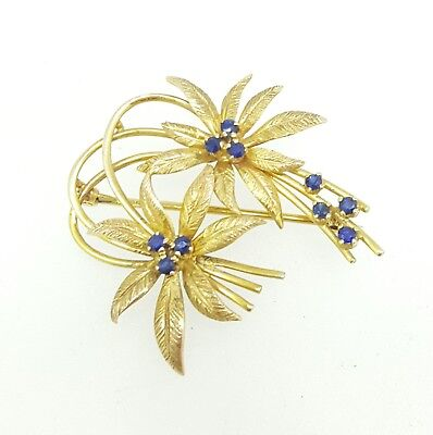 9ct gold and sapphire brooch