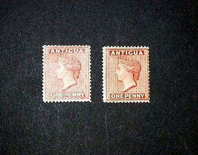 Antigua 1884 1d Red x 2