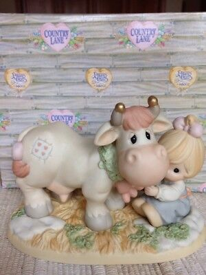 Precious Moments Wishing You A Moo-ie Christmas 455865 Country Lane Cow