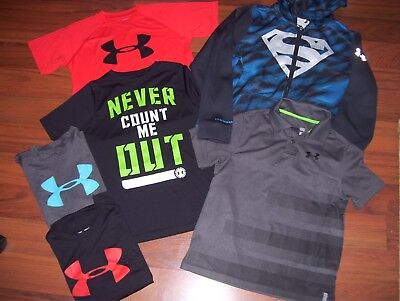 Boys All Ymd Medium Under Armour Armor Clothing Lot Storm Hoodie Dress Shirt