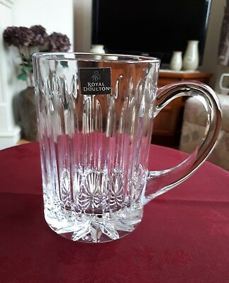 "Royal Doulton Crystal Large Tankard 5.5""- Excelle T"