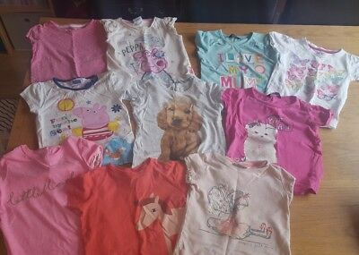 Girls T Shirt Bundle 2-3 Summer Holiday Clothes FREE POSTAGE
