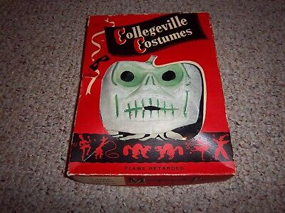 Antique Halloween Costume Gauze Mask Collegeville Complete in Orig Box