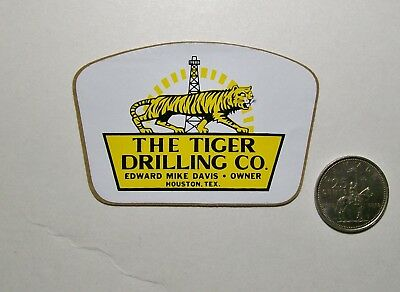 1 Oilfield Hard Hat Sticker / The Tiger Drilling Co.
