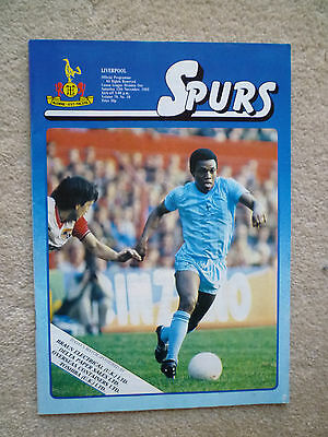 Spurs - Liverpool match programme - 1983