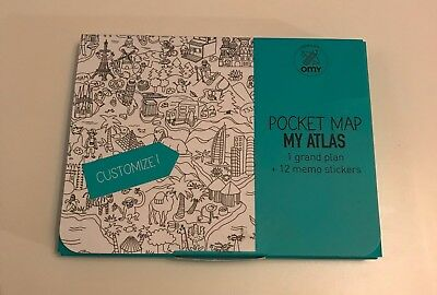 Pocket Map Atlas with stickers, ideal stocking filler