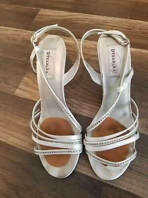 shoes women high heels silver jeweled heels size 9