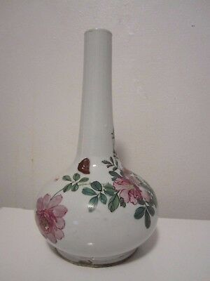 Antique Chinese gourd shape vase floral hand painted 11""