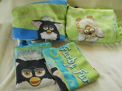 Vintage Super Rare Furby Tiger Electronics Twin Sheet Set With Pillow Cases