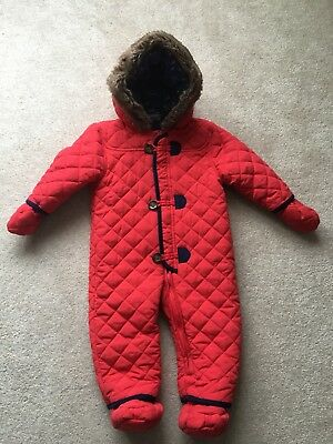 Baby Boys Snowsuit/ Traditional Pramsuit, Age 9-12 months, Worn Once!!