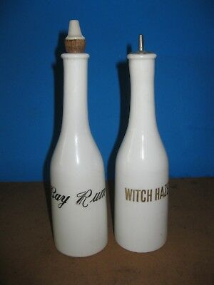 antique milk glass bay rum witch hazel barber shop bottles barberiana
