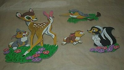 Vintage Dolly Disney BAMBI & FRIENDS Wall Hanging Room Decor