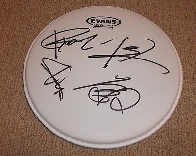 "One Ok Rock - Signed 10"" Drumhead Complete Band Signed! * Taka-Toru-Ryota-Tomoya"