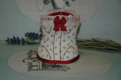 Chic vintage corset for a french fachion doll