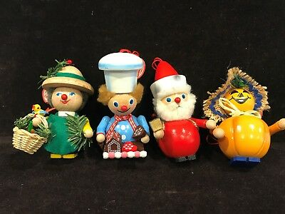 Steinbach Handmade in Germany Wooden Ornaments - Set of 4