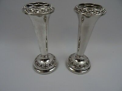 Pair of Vintage Ianthe Silver Plated Candlesticks 15 cms Tall