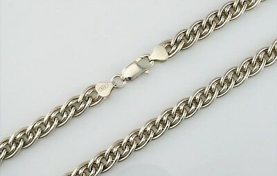 "18"" Inch Long 925 Solid Sterling Silver Fancy Curb Chain Necklace"
