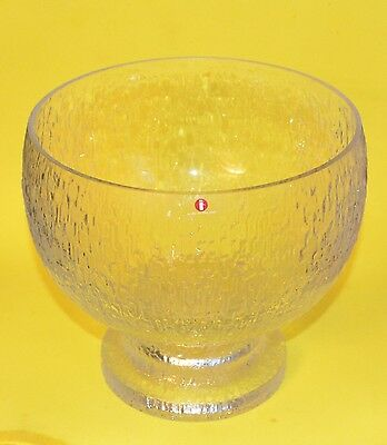 "Iittala Kekkerit 8"" Footed Centerpiece Serving Bowl Timo Sarpaneva  with Decal"