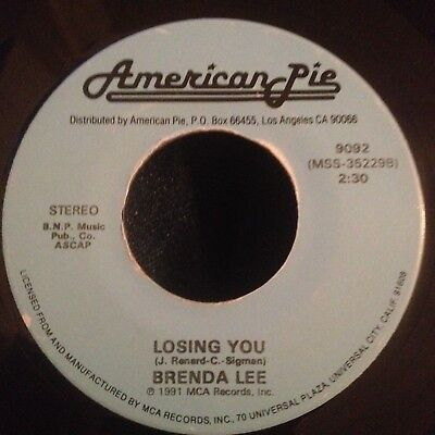 Brenda Lee - Break It To Me Gently 1962 / Losing You 1963 AMERICAN PIE