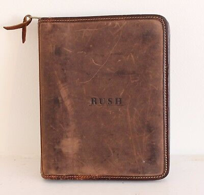 Vintage Rush Leather Journal/Organizer, Roots Canada Genuine Leather