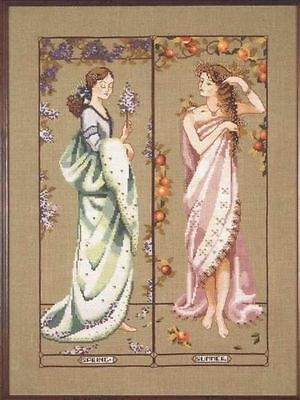 Maidens Of The Season Part 1- Spring & Summer- Cross Stitch Chart - Free Postage