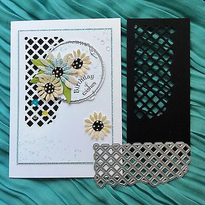 Shopaperartz LATTICE CUTOUT CUTTING DIE FITS SIZZIX CUTTLEBUG