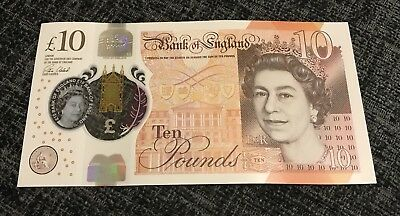 RARE AA01 £10 GBP Ten Pound Polymer Note VERY LOW SERIAL NO. AA01 05