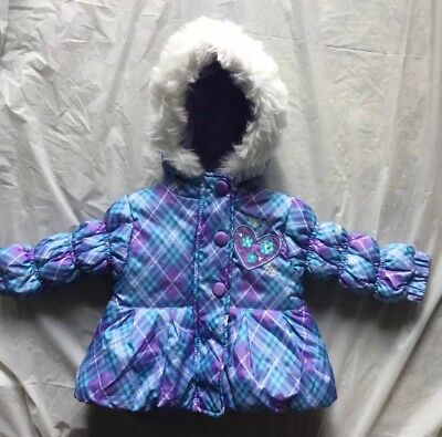 901f7075e NEW PACIFIC TRAIL Girls Size 6 Month Padded Faux Fur Trimmed Hooded ...