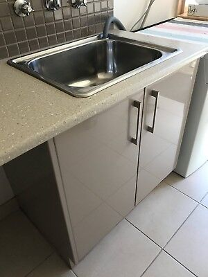 Laundry cupboard and bench top/sink