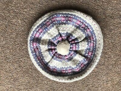 Bora Girl's FairIsle 100% Cashmere Hat 4-7yrs Immaculate