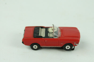 Vintage Aurora Red Mustang Convertible Slot Car HO scale 1960s