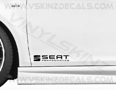 Seat Performance Premium Cast Door Decals Stickers Leon FR Cupra Ibiza Altea ST