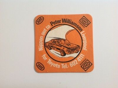 Collectable Beer Coaster - Peter Williamson Racing / Peter Williamson Toyota