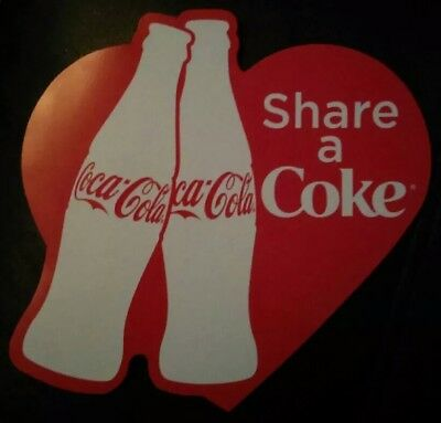 coca cola heart shaped share a coke magnet