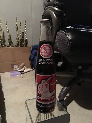 1982 St Louis Cardinals Championship Coca Cola Bottle
