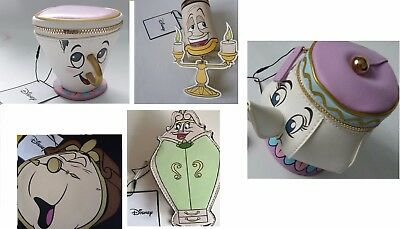 Disney Chip Cup+Mrs Potts+Cogsworth+Lumiere+Wardrobe Purse Beauty and the Beast