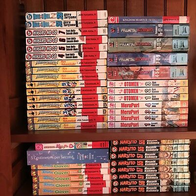 43 Huge Mixed MANGA English Books Lot Fullmetal Alchemist Merupuri Naruto Otomen