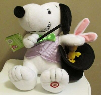 Hallmark Snoopy Easter Plush 2011 w/Sound & Motion 'Snoopy The Magnificent' New