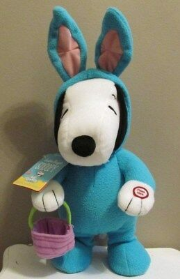 Hallmark Snoopy Easter Plush 2012 w/Sound & Motion 'Easter Beagle Snoopy' New